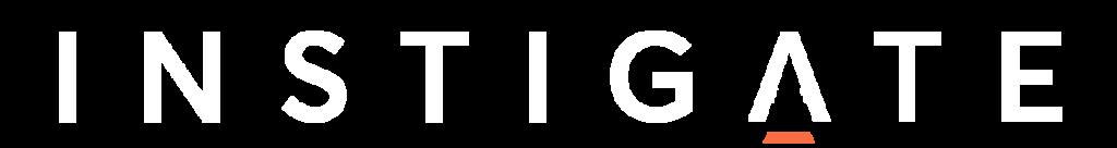 instigate white site logo